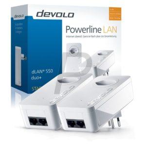 F05F02 - DEVOLO dLAN 550 duo+ Starter Kit [09302] (Suisse)