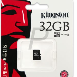 F24F07 - MicroSDHC Memory Card  32000MB ( 32GB ) KINGSTON Class 4 [SDC4/32GBSP]