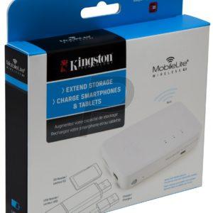 H02B24 - KINGSTON MobileLite Wireless G3, Li-ion 5400 mAh battery with 3.8V USB et SD Card [MLWG3]