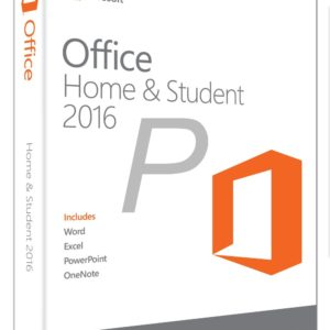 H02X14 - Français MICROSOFT Office Home and Student 2016 (Word, Excel, OneNote, Powerpoint) Product Key Card - No CD/DVD [79G-04630]