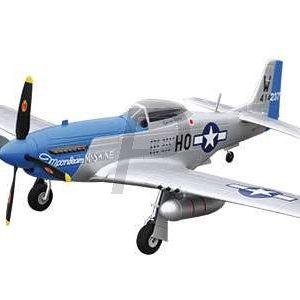 H10E04 - AMEWI Mustang P-51D PNP Warbird, PNP, 4-Kanal, blau [24044]