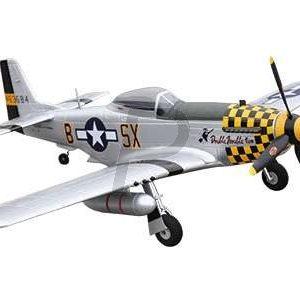 H10E05 - AMEWI Mustang P-51D PNP Warbird, PNP, 4-Kanal, gelb [24045]