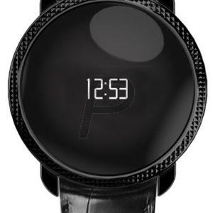 H19A45 - MY KRONOZ ZeCircle Premium Embossed Montre qui suis vos activités quotidiennes 5 jours Embossed Black Donne l 'heure Ecran OLED tactile [ZeCircle PME - Black]