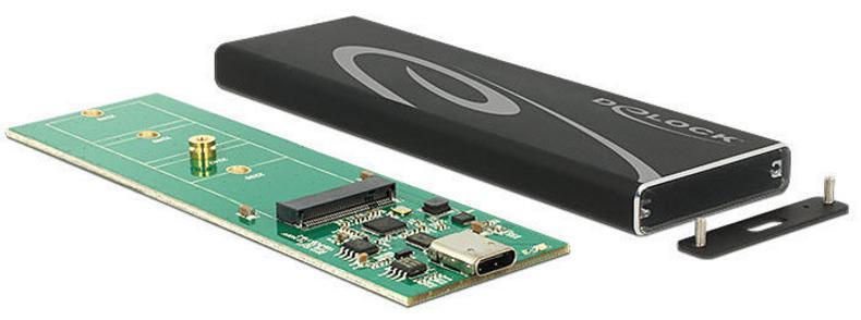 H24J19 - Delock - Boîtier externe pour SSD M.2 Sata - USB Type-C (USB 3.1 Gen 2) - [42574]