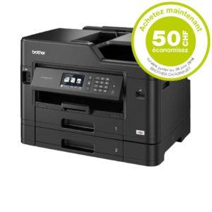 H30K23 - BROTHER MFC-J5730DW A3/A4 [imprimante recto verso, copieur recto-verso, FAX et scanner A4] + Encres - Rabais de 50.-