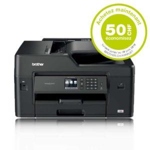 H30K25 - BROTHER MFC-J6530DW A3/A4 Business [imprimante, copieur, FAX et scanner A3] + Encres - Rabais de 50.-