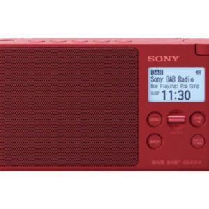 I04G04 - SONY XDR-S41DR, rot, DAB+-Radio Portable DAB+ Radio [XDRS41DR.EU8]