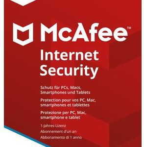 I07H11 - MCAFEE Internet Security 2018 3 Devices (Code in a box) [MIS00GNR3RAA]