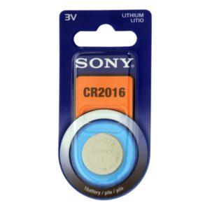 I11E08 - CR2016 - SONY Pile Lithium 3V 85mAh [CR2016B1A]