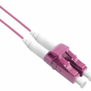 I13L13 - Câble à fibre optique SLIM 50/125µm OM4, LC/LC, violet,  1,0 m