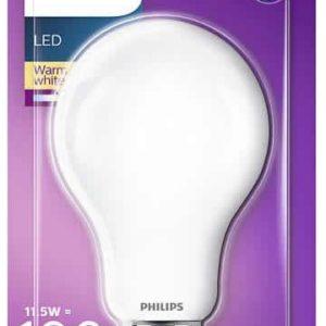 I14L12 - E27 - Ampoule LED PHILIPS LED Classic 11, 5 W (100 W), 1.521 Lumens, Blanc chaud, Intensité invariable