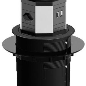 I15X06 - BACHMANN système LIFT 2xCH T13 2xCAT6 1xHDMI 3m CH [904.0100]