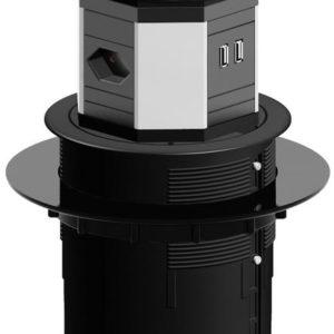 I15X09 - BACHMANN système LIFT 2xCH T13 2xCAT6 5,0m 2xUSB 3,0m CH [904.027]