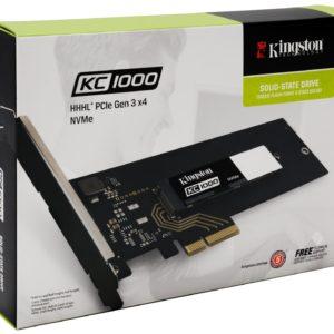 I30F06 - SSD Drive  480 GB KINGSTON KC1000 PCIe HHHL [SKC1000H/480G]