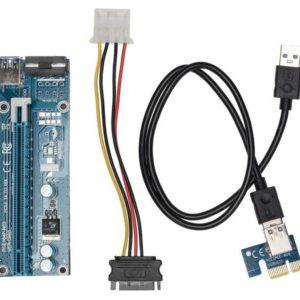 I30K10 - KOLINK PCI-Express Riser Card, x1 zu x16 Mining/Rendering-Kit - 60cm [ZURC-006]