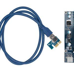 I30K11 - KOLINK PCI-Express Riser Card, x1 zu x16 Mining/Rendering-Kit Pro - 1m [ZURC-007]