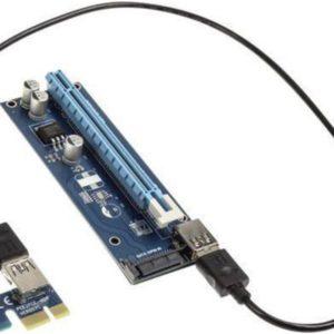 I30K12 - KOLINK PCI-Express Riser Card, x1 zu x16 Mining/Rendering-Kit SATA - 60cm [ZURC-008]
