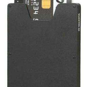 J02G31 - VALENTA Aluminium Card Case - black [580427]