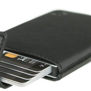 J02G32 - VALENTA Pocket Luxe Card Case - black [580991]