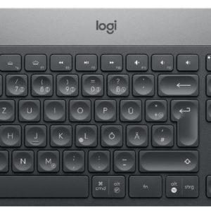 J04F24 - LOGITECH clavier DE Craft Advanced Keyboard with creative input dial - DE-Layout Bluetooth / QWERTZ / Wireless [920-008496]