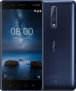 "J07E08 - NOKIA 8 Single Sim 64GB Blue 5.3"", 2.5GHz Octa Core, 4GB RAM, 13MP [11NB1L01A04]"