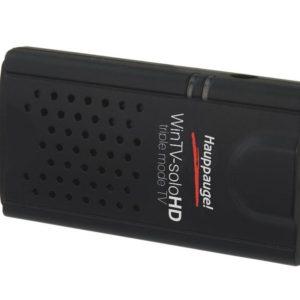 J25F06 - HAUPPAUGE WinTV-soloHD TV-Stick, externe, réception: TNT, DVB-C, connexions: USB 2.0, antenne, télécommande [01589]