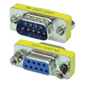 PB136 - MAXXTRO Mini adaptateur DB9 - Changeur de genre - M-F [PB-136]